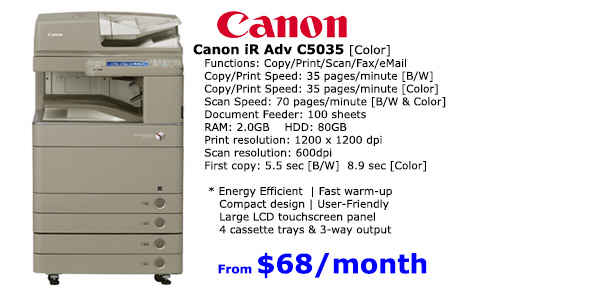CanonC5035 Premier Supplier of Copiers & Solutions